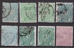 1875 Edifil 154/155 + Variedades - War Tax