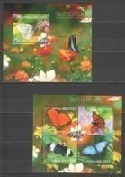 ML687 2014 MALDIVES FAUNA INSECTS BUTTERFLIES 1KB+1BL MNH - Schmetterlinge