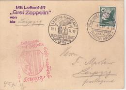 "ALLEMAGNE : PA . ZEPPLIN LZ 130 . "" LEIPZIG FAHRT "" . 1939 . - Briefe U. Dokumente"