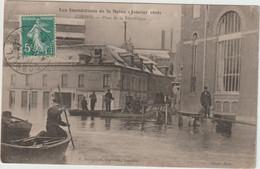 CORBEIL  LES INONDATIONS 1910 PLACE DE LA REPUBLIQUE - Corbeil Essonnes