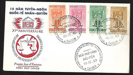 Vietnam FDC  10 12 1963  UNESCO - Vietnam