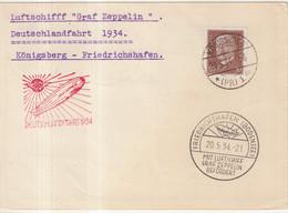 "ALLEMAGNE : PA . ZEPPLIN LZ 127 . DE  "" KONIGSBERG  "" . 1934 . - Briefe U. Dokumente"
