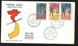 Vietnam FDC  20 07 1964 Unification - Vietnam