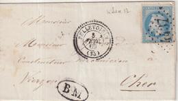 "FRANCE : GC 4437 . "" PELLEVOISIN "" . (35) . N° 29 . 1869 . BM DE LA BUTTE MOMBEL . - 1849-1876: Klassieke Periode"