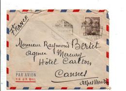 ESPAGNE SEUL SUR LETTRE POUR LA FRANCE 1952 - 1951-60 Cartas
