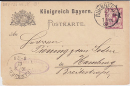 REDUZIERT Bayern Gzs Nürnberg Aku Haller Maschinenstempel Hamburg 1883 (2) - Machine Stamps (ATM)