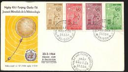 Vietnam FDC 23 03 1964 Journée Mondiale De La Météorologie - Vietnam
