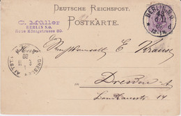 REDUZIERT DR Mi 40 Kte Berlin Aku Haller Maschinenstempel Dresden Altstadt 1889 - Machine Stamps (ATM)