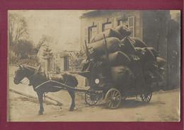 230721 - RARE CARTE PHOTO ROSSILLON Chaussée De Balan 08 SEDAN - Attelage Cheval Transport Commerce - Sedan