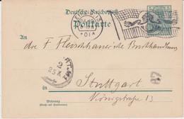 DR Germania Reichspost Ganzsache P 50 Flaggenstempel Leipzig 1901 - Machine Stamps (ATM)