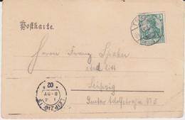 DR Germania Mi 70 Bickerdike Maschinenstempel Leipzig Aku Kte 1902 - Poststempel - Freistempel