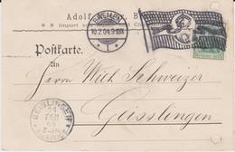 DR Germania Mi 70 Flaggenstempel Bremen Kte 1904 - Machine Stamps (ATM)