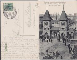REDUZIERT DR Germania Mi 85 Klass Sonderstempel Düsseldorf Ausstellung Kte 1907 - Machine Stamps (ATM)