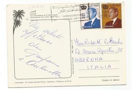 C3516 Agadir - Dromadaires - Vue Panoramique De La Baie - Nice Stamps Timbres Francobolli / Viaggiata 1989 - Agadir