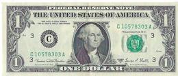 STATI UNITI - UNITED STATES - 1 US $ 1 DOLLARO  WASHINGTON  WYSIWYG  - N° SERIALE C10578303A - CARTAMONETA - PAPER MONEY - Other