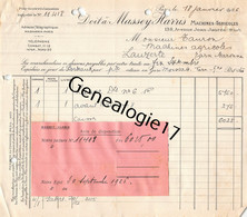75 23888 PARIS SEINE 1926 Machines Agricoles MASSEY - HARRIS  Avenue Jean Jaures Dest TAURON Ou TAURAN De LAUZERTE - Landbouw