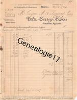 75 23892 PARIS SEINE 1907 Machines Agricoles MASSEY - HARRIS Machine Agricole Avenue Jean Jaures Dest TAYAC De TANUS - Landbouw