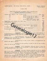 75 23906 PARIS SEINE 1926 TARIF PRIX Machines Agricoles MASSEY - HARRIS Machine Agricole Avenue Jean Jaures - Landbouw