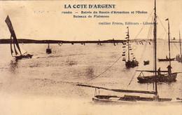 D33  CAP FERRET  Entrée Du Bassin D'Arcachon Et L'Océan Bateaux De Plaisance  .... Carte Peu Courante - Arcachon