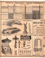 MAISON BOIVIN - DELSU Fondée En 1866 à  AUXERRE ( YONNE ) KIOSQUE à Musique, GRILLES, VERRIERES... - Straßenhandel Und Kleingewerbe