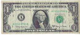 STATI UNITI - UNITED STATES - 1 US $ 1 DOLLARO  WASHINGTON  WYSIWYG  - N° SERIALE A00110783B - CARTAMONETA - PAPER MONEY - Other