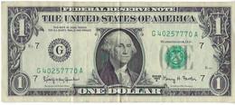 STATI UNITI - UNITED STATES - 1 US $ 1 DOLLARO  WASHINGTON  WYSIWYG  - N° SERIALE G40257770A - CARTAMONETA - PAPER MONEY - Other
