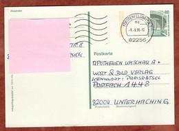 Ganzsachenpostkarte, Zeche Zollern Dortmund, MS Welle Fuerstenfeldbruck, 1996 (4873) - Cartes Postales - Oblitérées