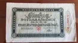 Deutschland / Germany Notgeld 50 Milliarden Mark 1923 Duisburg - [11] Emissions Locales