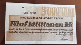 Deutschland / Germany Notgeld 5 Millionen Mark 1923 Essen - [11] Emissions Locales