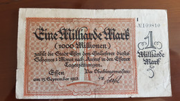 Deutschland / Germany Notgeld 1 Milliarde Mark 1923 Essen - [11] Emissions Locales