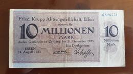 Deutschland / Germany Notgeld 10 Millionen Mark 1923 Essen Friedrich Krupp AG - [11] Emissions Locales
