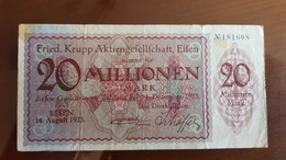 Deutschland / Germany Notgeld 20 Millionen Mark 1923 Essen Friedrich Krupp AG - [11] Emissions Locales