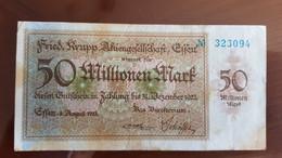 Deutschland / Germany Notgeld 50 Millionen Mark 1923 Essen Friedrich Krupp AG - [11] Emissions Locales