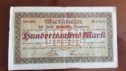 Deutschland / Germany Notgeld 100.000 Mark 1923 Hamborn Zeche Neumühl Steinkohlebergwerk - [11] Emissions Locales