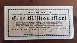 Deutschland / Germany Notgeld 1 Million Mark 1923 Zwickau - [11] Emissions Locales