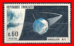 FRANCIA – TIMBRES. AÑO 1965 -  LANZAMIENTO DEL PRIMER SATELITE FRANCES - Usati