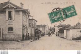C6-33) SAINT SELVE (GIRONDE) LA POSTE ET LA GRANDE RUE  - (ANIMEE - PERSONNAGES - VILLAGEOIS) - Other Municipalities