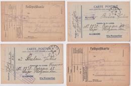Carte Postale Prisonnier De Guerre Français Poulain Holzminden Lager Camp Lot 4 Cartes Censure Franchise Geprüft F A POW - 1. Weltkrieg 1914-1918