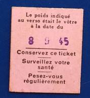 Ticket Billetde Pesage Poids Balance -☛53 Kg -50/60-bascule Automatique - Otros