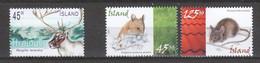 Iceland Island 2003-2005 Mi 1045 + 1087-1088 MNH ANIMALS - MOUSE - ELK - Altri