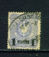 GERMAN PO'S IN TURKEY  -  1884 Deutches Reichpost Definitive 1p On 20pf Used As Scan - Offices: Turkish Empire