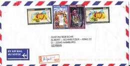 Rwanda Registered Air Mail Cover Sent To Germany 1-4-2000 - Posta Aerea