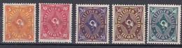 Deutsches Reich 1922 - Mi.Nr. 205 - 209 - Postfrisch MNH - Nuevos
