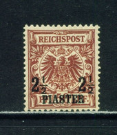 GERMAN PO'S IN TURKEY  -  1889 Reichpost Definitive 21/2p On 50pf Hinged Mint - Offices: Turkish Empire