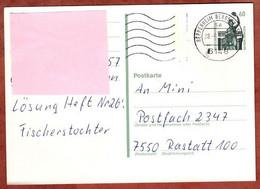Ganzsachenpostkarte, Bavaria Muenchen, MS Welle Heppenheim, 1991 (4880) - Cartes Postales - Oblitérées