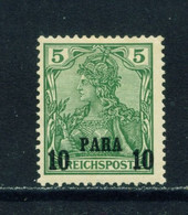 GERMAN PO'S IN TURKEY  -  1900 Germania Reichpost Definitive 10p On 5pf Hinged Mint - Offices: Turkish Empire