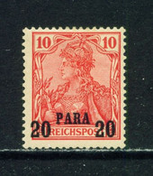 GERMAN PO'S IN TURKEY  -  1900 Germania Reichpost Definitive 20p On 10pf Hinged Mint - Offices: Turkish Empire