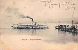 ZURICH     DAMPFSCHWALBE   BATEAU  CARTE PIONNIERE - ZH Zurich