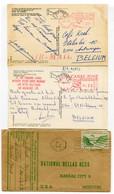 CANAL ZONE POSTAGE -2 Postcards 1977 Balboa - 1973 Christobal And 1 Cover Ancon 1948 - Panama