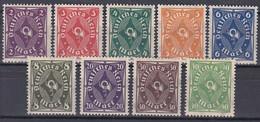 Deutsches Reich 1922/23 - Mi.Nr. 224 - 232 - Postfrisch MNH - Nuevos